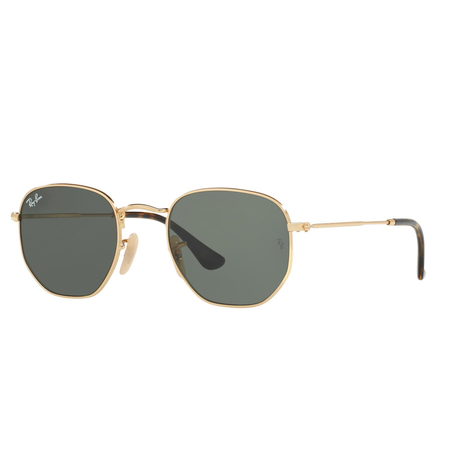 Ray Ban 0RB3548N HEXAGONAL 001 Gold Green | Occhiali da